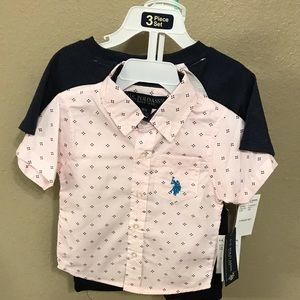 Boys US Polo 3 piece set